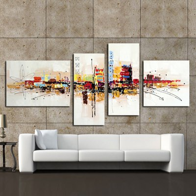 4PCS YHHP Hand-painted Abstract Oil PaintingOil Paintings<br>4PCS YHHP Hand-painted Abstract Oil Painting<br><br>Brand: YHHP<br>Form: Four Panels<br>Package Quantity: 4 x Oil Painting<br>Package size (L x W x H): 72.00 x 52.00 x 20.00 cm / 28.35 x 20.47 x 7.87 inches<br>Package weight: 3.0200 kg<br>Product size (L x W x H): 70.00 x 50.00 x 16.00 cm / 27.56 x 19.69 x 6.3 inches<br>Product weight: 2.4000 kg<br>Shape: Any Shape<br>Theme: Abstract