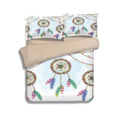 5-piece Polyester Bedding Set Fancy Dreamcatchers PatternBedding Sets<br>5-piece Polyester Bedding Set Fancy Dreamcatchers Pattern<br><br>Package Contents: 2 x Pillowcase, 1 x Duvet Cover, 1 x Flat Sheet, 1 x Fitted Sheet<br>Package size (L x W x H): 40.00 x 30.00 x 4.00 cm / 15.75 x 11.81 x 1.57 inches<br>Package weight: 2.0500 kg<br>Pattern Type: Novelty<br>Product weight: 2.0000 kg<br>Type: Double