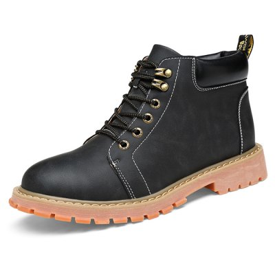 Men Stylish Lace-up Work BootsMens Boots<br>Men Stylish Lace-up Work Boots<br><br>Contents: 1 x Pair of Boots<br>Materials: Microfiber, Rubber<br>Occasion: Casual<br>Package Size ( L x W x H ): 33.00 x 24.00 x 13.00 cm / 12.99 x 9.45 x 5.12 inches<br>Package Weights: 1.17kg<br>Seasons: Autumn,Spring,Winter<br>Style: Leisure, Fashion, Comfortable<br>Type: Boots