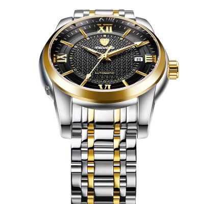 TEVISE T805A Mechanical Men WristwatchMens Watches<br>TEVISE T805A Mechanical Men Wristwatch<br><br>Available Color: Black,Blue,Gold,White<br>Band material: Stainless Steel<br>Band size: 20 x 2cm<br>Brand: Tevise<br>Case material: Alloy<br>Clasp type: Butterfly clasp<br>Dial size: 3.8 x 3.8 x 1.5cm<br>Display type: Analog<br>Movement type: Mechanical watch<br>Package Contents: 1 x Wristwatch, 1 x Box<br>Package size (L x W x H): 10.00 x 10.00 x 6.00 cm / 3.94 x 3.94 x 2.36 inches<br>Package weight: 0.3580 kg<br>Product size (L x W x H): 20.00 x 3.80 x 1.50 cm / 7.87 x 1.5 x 0.59 inches<br>Product weight: 0.1380 kg<br>Shape of the dial: Round<br>Watch style: Business, Fashion<br>Watches categories: Men