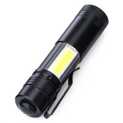 Cree XPE 280Lm Mini Emergency Flashlight with Side COB LightLED Flashlights<br>Cree XPE 280Lm Mini Emergency Flashlight with Side COB Light<br><br>Battery Included or Not: No<br>Battery Quantity: 1<br>Battery Type: 14500<br>Body Material: Aluminium<br>Color: Black<br>Emitters: Cree XP-E, COB<br>Feature: Lightweight<br>Flashlight size: Mini<br>Flashlight Type: Handheld,Safety<br>Function: Exploring, Hiking, Fishing, Emergency, EDC<br>Light color: White light<br>Light Modes: High,Low,SOS<br>Luminous Flux: 280Lm<br>Package Contents: 1 x Mini Flashlight<br>Package size (L x W x H): 3.00 x 3.00 x 11.50 cm / 1.18 x 1.18 x 4.53 inches<br>Package weight: 0.0700 kg<br>Power Source: Battery<br>Product size (L x W x H): 2.00 x 2.00 x 9.50 cm / 0.79 x 0.79 x 3.74 inches<br>Product weight: 0.0360 kg<br>Switch Location: Head