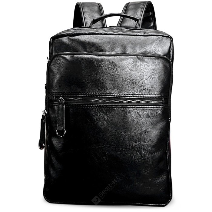 PU Leather Laptop Backpack for Men