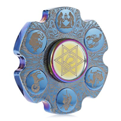 Zodiac Sign Bullet Zinc Alloy ADHD Fidget SpinnerFidget Spinners<br>Zodiac Sign Bullet Zinc Alloy ADHD Fidget Spinner<br><br>Center Bearing Material: Stainless Steel<br>Color: Blue<br>Frame material: Zinc Alloy<br>Package Contents: 1 x Fidget Spinner<br>Package size (L x W x H): 6.20 x 6.20 x 2.50 cm / 2.44 x 2.44 x 0.98 inches<br>Package weight: 0.1180 kg<br>Product size (L x W x H): 5.20 x 5.20 x 1.50 cm / 2.05 x 2.05 x 0.59 inches<br>Product weight: 0.1050 kg<br>Type: Retro, Cool