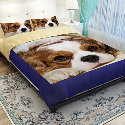 5-piece Polyester Bedding Set Adorable Pet Dog PatternPillow<br>5-piece Polyester Bedding Set Adorable Pet Dog Pattern<br><br>Category: Bedding Set<br>For: All<br>Material: Polyester fibre<br>Occasion: Bedroom<br>Package Contents: 2 x Pillowcase, 1 x Duvet Cover, 1 x Flat Sheet, 1 x Fitted Sheet, 2 x Pillowcase, 1 x Duvet Cover, 1 x Flat Sheet, 1 x Fitted Sheet<br>Package size (L x W x H): 40.00 x 30.00 x 4.00 cm / 15.75 x 11.81 x 1.57 inches, 40.00 x 30.00 x 4.00 cm / 15.75 x 11.81 x 1.57 inches<br>Package weight: 2.0500 kg, 2.0500 kg<br>Product weight: 2.0000 kg<br>Type: Comfortable, Eco-friendly