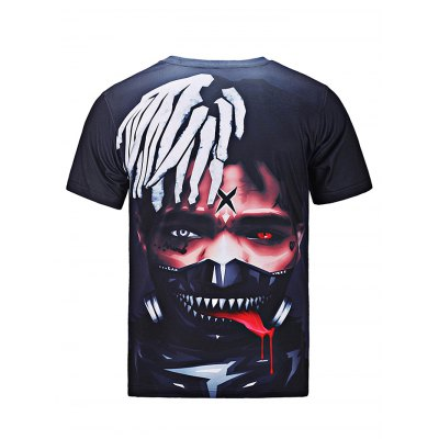 Scared Character Printed T-shirt for MenMens Short Sleeve Tees<br>Scared Character Printed T-shirt for Men<br><br>Fabric Type: Cotton<br>Neckline: Round Neck<br>Package Content: 1 x T-shirt<br>Package size: 30.00 x 35.00 x 2.00 cm / 11.81 x 13.78 x 0.79 inches<br>Package weight: 0.2500 kg<br>Pattern Type: Characters<br>Product weight: 0.2100 kg<br>Season: Summer<br>Sleeve Length: Short Sleeves<br>Style: Fashion, Casual