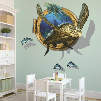 Turtle PVC Waterproof Wall StickerWall Stickers<br>Turtle PVC Waterproof Wall Sticker<br><br>Art Style: Plane Wall Stickers<br>Color Scheme: Multicolor<br>Functions: Decorative Wall Stickers<br>Hang In/Stick On: Bedrooms,Living Rooms<br>Material: Vinyl(PVC), Self-adhesive Plastic<br>Package Contents: 1 x Sticker<br>Package size (L x W x H): 60.00 x 4.00 x 2.00 cm / 23.62 x 1.57 x 0.79 inches<br>Package weight: 0.1800 kg<br>Product size (L x W x H): 60.00 x 90.00 x 2.00 cm / 23.62 x 35.43 x 0.79 inches<br>Product weight: 0.1600 kg<br>Subjects: Animal