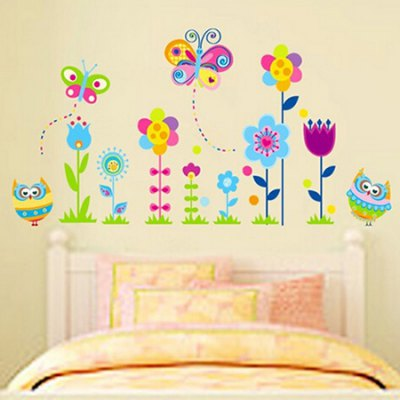 Flower PVC Waterproof Wall StickerWall Stickers<br>Flower PVC Waterproof Wall Sticker<br><br>Art Style: Plane Wall Stickers<br>Color Scheme: Multicolor<br>Functions: Decorative Wall Stickers<br>Hang In/Stick On: Kids Room<br>Material: Vinyl(PVC), Self-adhesive Plastic<br>Package Contents: 1 x Sticker<br>Package size (L x W x H): 51.00 x 4.00 x 1.00 cm / 20.08 x 1.57 x 0.39 inches<br>Package weight: 0.1300 kg<br>Product size (L x W x H): 51.00 x 78.00 x 1.00 cm / 20.08 x 30.71 x 0.39 inches<br>Product weight: 0.1100 kg