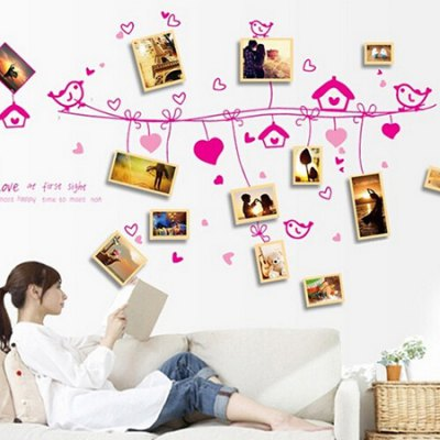 Love Birds PVC Waterproof Wall StickerWall Stickers<br>Love Birds PVC Waterproof Wall Sticker<br><br>Art Style: Plane Wall Stickers<br>Color Scheme: Multicolor<br>Functions: Decorative Wall Stickers<br>Hang In/Stick On: Bedrooms,Living Rooms<br>Material: Vinyl(PVC), Self-adhesive Plastic<br>Package Contents: 1 x Sticker<br>Package size (L x W x H): 60.00 x 4.00 x 1.00 cm / 23.62 x 1.57 x 0.39 inches<br>Package weight: 0.1800 kg<br>Product size (L x W x H): 60.00 x 90.00 x 1.00 cm / 23.62 x 35.43 x 0.39 inches<br>Product weight: 0.1600 kg
