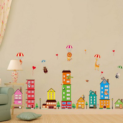 City Painting Waterproof Wall StickerWall Stickers<br>City Painting Waterproof Wall Sticker<br><br>Art Style: Plane Wall Stickers<br>Color Scheme: Multicolor<br>Functions: Decorative Wall Stickers<br>Hang In/Stick On: Bedrooms,Living Rooms<br>Material: Vinyl(PVC), Self-adhesive Plastic<br>Package Contents: 1 x Sticker<br>Package size (L x W x H): 60.00 x 4.00 x 1.00 cm / 23.62 x 1.57 x 0.39 inches<br>Package weight: 0.3500 kg<br>Product size (L x W x H): 60.00 x 90.00 x 1.00 cm / 23.62 x 35.43 x 0.39 inches<br>Product weight: 0.3300 kg