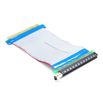 PCI Express x16 Riser Card Flexible Extender CableOther PC Parts<br>PCI Express x16 Riser Card Flexible Extender Cable<br><br>Package size: 10.00 x 12.00 x 3.00 cm / 3.94 x 4.72 x 1.18 inches<br>Package weight: 0.0750 kg<br>Packing List: 1 x PCI-E x16 Extension Cable Riser Card<br>Product size: 18.50 x 11.00 x 1.00 cm / 7.28 x 4.33 x 0.39 inches<br>Product weight: 0.0520 kg<br>Type: PCI-E x16 Extension Cable Riser Card