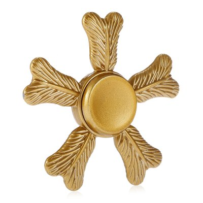 Five-blade Palm-leaf Fan Alloy Fidget SpinnerFidget Spinners<br>Five-blade Palm-leaf Fan Alloy Fidget Spinner<br><br>Center Bearing Material: Stainless Steel<br>Color: Gold<br>Frame material: Alloy<br>Package Contents: 1 x Fidget Spinner, 1 x Box<br>Package size (L x W x H): 9.00 x 9.00 x 2.00 cm / 3.54 x 3.54 x 0.79 inches<br>Package weight: 0.1090 kg<br>Product size (L x W x H): 6.20 x 6.20 x 1.10 cm / 2.44 x 2.44 x 0.43 inches<br>Product weight: 0.0500 kg<br>Type: Pentagon