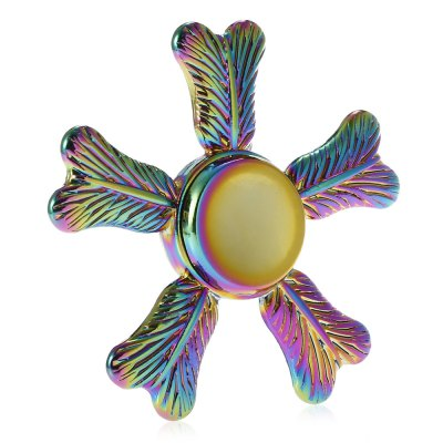 Five-blade Palm-leaf Fan Alloy Fidget SpinnerFidget Spinners<br>Five-blade Palm-leaf Fan Alloy Fidget Spinner<br><br>Center Bearing Material: Stainless Steel<br>Color: Colorful<br>Frame material: Alloy<br>Package Contents: 1 x Fidget Spinner, 1 x Box<br>Package size (L x W x H): 9.00 x 9.00 x 2.00 cm / 3.54 x 3.54 x 0.79 inches<br>Package weight: 0.1090 kg<br>Product size (L x W x H): 6.20 x 6.20 x 1.10 cm / 2.44 x 2.44 x 0.43 inches<br>Product weight: 0.0500 kg<br>Type: Rainbow, Pentagon