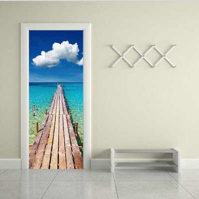 Seaside Timber Pier Door StickerWall Stickers<br>Seaside Timber Pier Door Sticker<br><br>Functions: Decorative Wall Stickers<br>Hang In/Stick On: Bedrooms,Living Rooms<br>Material: Vinyl(PVC)<br>Package Contents: 2 x Door Stickers<br>Package size (L x W x H): 42.00 x 3.40 x 3.40 cm / 16.54 x 1.34 x 1.34 inches<br>Package weight: 0.5200 kg<br>Product weight: 0.4900 kg<br>Subjects: Landscape