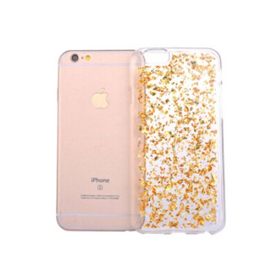 Gold Glitter Silicone Phone Cover for iPhone 6 Plus / 6s Plus glitter sequins glossy tpu cover for iphone 6s plus 6 plus gold