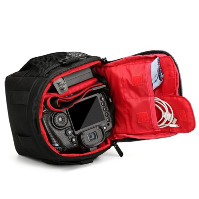 Huwang Waterproof Crossbody Nylon Camera BagCamera Bags<br>Huwang Waterproof Crossbody Nylon Camera Bag<br><br>Brand: Huwang<br>Material: Nylon<br>Package Contents: 1 x Bag<br>Package size (L x W x H): 16.00 x 11.00 x 17.00 cm / 6.3 x 4.33 x 6.69 inches<br>Package weight: 0.3200 kg<br>Product size (L x W x H): 15.00 x 10.00 x 16.00 cm / 5.91 x 3.94 x 6.3 inches<br>Product weight: 0.2800 kg<br>Type: Double shoulder<br>Waterproof: Yes