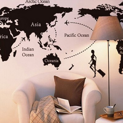World Map Home Decor Wallpaper Wall Sticker Mural free shipping china left handed str electric guitar aged in cream 160106 0320