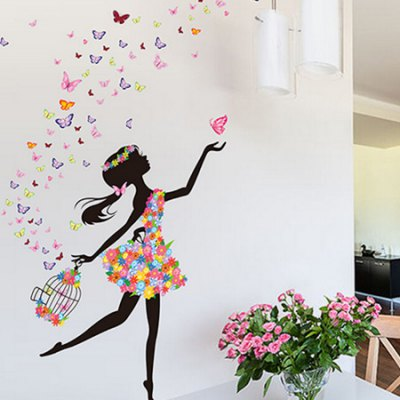 Dancing Girl DIY Home Decor Wallpaper Wall StickerWall Stickers<br>Dancing Girl DIY Home Decor Wallpaper Wall Sticker<br><br>Art Style: Plane Wall Stickers<br>Color Scheme: Multicolor<br>Functions: Decorative Wall Stickers<br>Hang In/Stick On: Bedrooms,Living Rooms<br>Material: Self-adhesive Plastic, Vinyl(PVC)<br>Package Contents: 1 x Sticker<br>Package size (L x W x H): 60.00 x 4.00 x 2.00 cm / 23.62 x 1.57 x 0.79 inches<br>Package weight: 0.1900 kg<br>Product size (L x W x H): 60.00 x 90.00 x 2.00 cm / 23.62 x 35.43 x 0.79 inches<br>Product weight: 0.1600 kg<br>Sizes: 60 x 90cm<br>Subjects: People