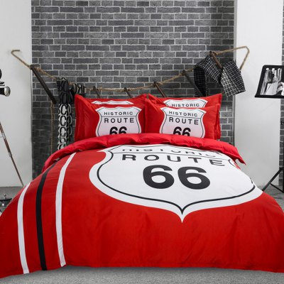 4-piece Polyester Bedding Set Historic Route 66 PatternBedding Sets<br>4-piece Polyester Bedding Set Historic Route 66 Pattern<br><br>Package Contents: 1 x Pillowcase, 1 x Duvet Cover, 1 x Flat Sheet, 1 x Fitted Sheet<br>Package size (L x W x H): 40.00 x 30.00 x 4.00 cm / 15.75 x 11.81 x 1.57 inches<br>Package weight: 1.8500 kg<br>Product weight: 1.8000 kg<br>Type: Single
