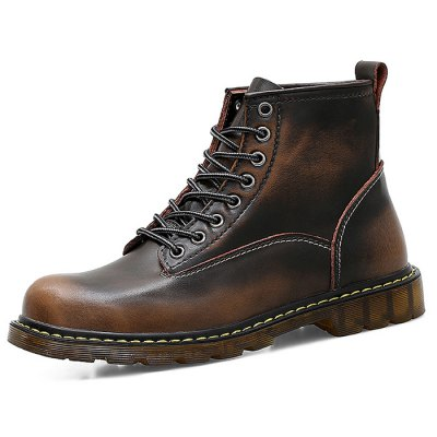 Stylish Martin Boots for MenMens Boots<br>Stylish Martin Boots for Men<br><br>Contents: 1 x Pair of Boots<br>Materials: Genuine Leather, TPR<br>Occasion: Casual<br>Package Size ( L x W x H ): 33.00 x 22.00 x 11.00 cm / 12.99 x 8.66 x 4.33 inches<br>Package Weights: 1.07kg<br>Seasons: Autumn,Spring,Winter<br>Style: Leisure, Fashion, Comfortable<br>Type: Boots