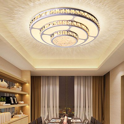 Fashion Round Crystal Ceiling Light 220VFlush Ceiling Lights<br>Fashion Round Crystal Ceiling Light 220V<br><br>Features: Round Shape, Remote-Controlled<br>Illumination Field: 10 - 15sqm<br>Luminous Flux: 2800lm<br>Optional Light Color: Natural White,Warm White + White<br>Package Contents: 1 x Ceiling Light, 1 x Set of Install Accessory, 1 x Remote Controller<br>Package size (L x W x H): 55.00 x 55.00 x 18.00 cm / 21.65 x 21.65 x 7.09 inches<br>Package weight: 4.0500 kg<br>Product size (L x W x H): 45.00 x 45.00 x 14.00 cm / 17.72 x 17.72 x 5.51 inches<br>Product weight: 3.0000 kg<br>Sheathing Material: Acrylic<br>Type: Ceiling Lights<br>Voltage (V): 220V<br>Wattage (W): &gt;20<br>Wavelength / CCT: 3000K,4000K,6500K