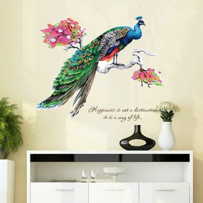 Graceful Peafowl Style Wall StickerWall Stickers<br>Graceful Peafowl Style Wall Sticker<br><br>Art Style: Plane Wall Stickers<br>Functions: Decorative Wall Stickers<br>Hang In/Stick On: Bedrooms<br>Material: Vinyl(PVC)<br>Package Contents: 1 x Wall Sticker<br>Package size (L x W x H): 40.00 x 4.00 x 1.00 cm / 15.75 x 1.57 x 0.39 inches<br>Package weight: 0.1800 kg<br>Product size (L x W x H): 40.00 x 60.00 x 1.00 cm / 15.75 x 23.62 x 0.39 inches<br>Product weight: 0.1600 kg