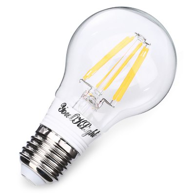 YouOKLight E26 / E27 COB Filament Ball Bulb AC 85 - 265VGlobe bulbs<br>YouOKLight E26 / E27 COB Filament Ball Bulb AC 85 - 265V<br><br>Available Light Color: Warm White<br>Brand: YouOKLight<br>CCT/Wavelength: 3000K<br>Emitter Types: COB<br>Features: Long Life Expectancy, Energy Saving<br>Function: Home Lighting, Commercial Lighting<br>Holder: E26/E27<br>Luminous Flux: 600Lm<br>Package Contents: 1 x YouOKLight E26 / E27 COB Filament Ball Bulb<br>Package size (L x W x H): 6.50 x 6.50 x 12.50 cm / 2.56 x 2.56 x 4.92 inches<br>Package weight: 0.9000 kg<br>Product size (L x W x H): 5.00 x 5.00 x 11.00 cm / 1.97 x 1.97 x 4.33 inches<br>Product weight: 0.0370 kg<br>Sheathing Material: Glass, Plastic, Aluminum<br>Total Emitters: 6<br>Type: Ball Bulbs<br>Voltage (V): AC 85-265
