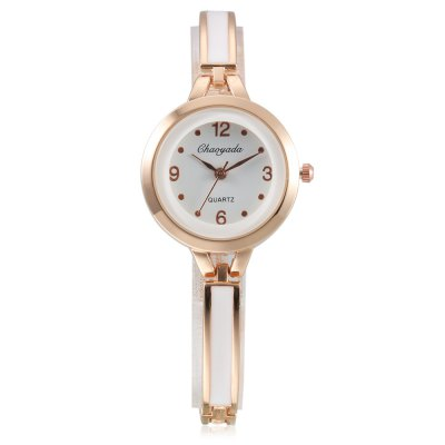 CYD Chaoyada 8017 Women Chain WristwatchWomens Watches<br>CYD Chaoyada 8017 Women Chain Wristwatch<br><br>Band material: Steel + Alloy<br>Band size: 19.7 x 0.6cm<br>Case material: Steel<br>Clasp type: Sheet folding clasp<br>Dial size: 3 x 3 x 0.7cm<br>Display type: Analog<br>Movement type: Quartz watch<br>Package Contents: 1 x Wristwatch, 1 x Box<br>Package size (L x W x H): 8.50 x 8.00 x 5.50 cm / 3.35 x 3.15 x 2.17 inches<br>Package weight: 0.0650 kg<br>Product size (L x W x H): 19.70 x 3.00 x 0.70 cm / 7.76 x 1.18 x 0.28 inches<br>Product weight: 0.0290 kg<br>Shape of the dial: Round<br>Watch style: Fashion<br>Watches categories: Women<br>Water resistance : Life water resistant
