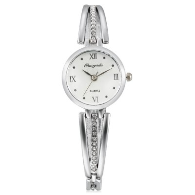 CYD Chaoyada 8016 Quartz Women Chain WatchWomens Watches<br>CYD Chaoyada 8016 Quartz Women Chain Watch<br><br>Band material: Steel + Alloy<br>Band size: 19.7 x 0.6cm<br>Case material: Steel<br>Clasp type: Sheet folding clasp<br>Dial size: 2.7 x 2.7 x 0.7cm<br>Display type: Analog<br>Movement type: Quartz watch<br>Package Contents: 1 x Watch, 1 x Box<br>Package size (L x W x H): 8.50 x 8.00 x 5.50 cm / 3.35 x 3.15 x 2.17 inches<br>Package weight: 0.0830 kg<br>Product size (L x W x H): 19.70 x 2.70 x 0.70 cm / 7.76 x 1.06 x 0.28 inches<br>Product weight: 0.0270 kg<br>Shape of the dial: Round<br>Watch style: Fashion<br>Watches categories: Women<br>Water resistance : Life water resistant