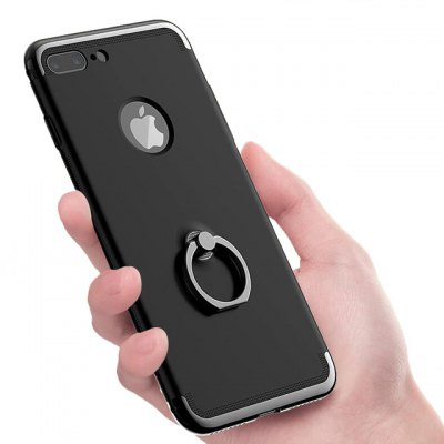 3 in 1 PC Plastic Back Cover with Ring Holder for iPhone 7