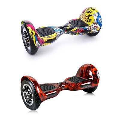 10 inch Dual Inflatable Tires Smart Self Balancing ScooterScooters and Wheels<br>10 inch Dual Inflatable Tires Smart Self Balancing Scooter<br><br>Battery: Li-ion battery<br>Battery Capacity: 4400mAh<br>Battery Rate: 82W<br>Battery Voltage: 36V<br>Charger type: EU plug<br>Charging Time: 2-3 hours<br>Folding Type: Non-folding<br>Max Payload: 120kg<br>Maximum Grade Ability: 25 degrees<br>Maximum Mileage: 20km<br>Maximum Speed (km/h): 18km/h<br>Mileage (depends on road and driver weight): 15-20km<br>Motor Rated Power: 250W<br>Package Contents: 1 x Self Balancing Scooter, 1 x Adapter, 1 x Plug, 1 x English User Manual<br>Package size (L x W x H): 72.00 x 35.00 x 35.50 cm / 28.35 x 13.78 x 13.98 inches<br>Package weight: 13.1000 kg<br>Permissible Gradient (depends on your weight): 20-25 degree<br>Product size (L x W x H): 63.00 x 28.00 x 26.50 cm / 24.8 x 11.02 x 10.43 inches<br>Product weight: 10.2000 kg<br>Seat Type: without Seat<br>Type: Self Balancing Scooter<br>Wheel Number: 2 Wheel<br>Working Temperature: -5 - 50 Deg.C