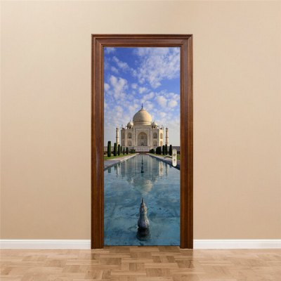 Taj Mahal India Style Door StickerWall Stickers<br>Taj Mahal India Style Door Sticker<br><br>Art Style: Plane Wall Stickers<br>Function: 3D Effect<br>Functions: Decorative Wall Stickers<br>Hang In/Stick On: Living Rooms<br>Material: Vinyl(PVC)<br>Package Contents: 2 x Door Stickers<br>Package size (L x W x H): 42.00 x 3.40 x 3.40 cm / 16.54 x 1.34 x 1.34 inches<br>Package weight: 0.5200 kg<br>Product weight: 0.4900 kg<br>Subjects: Architecture<br>Type: 3D Wall Sticker