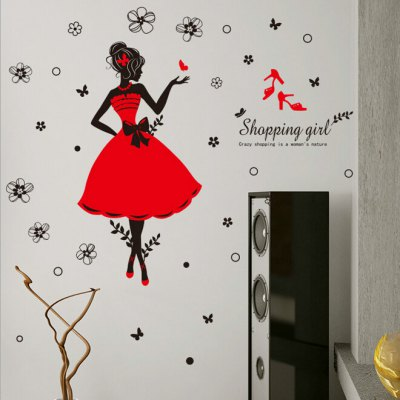 fashion shopping girls wall sticker 4 2 online shopping love tree design removable pvc wall sticker 6 60 online