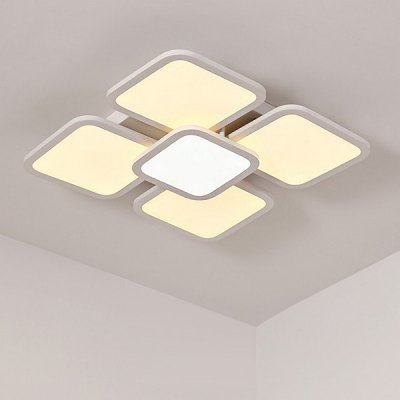 87W 8300LM LED Simple Square Shape Ceiling Light 220V