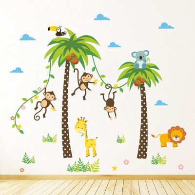 Cute Monkey Removable Wall Sticker for Kids Room green lantern vol 8 reflections