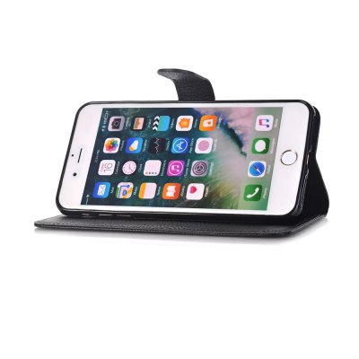Leather Wallet Kickstand CaseiPhone Cases/Covers<br>Leather Wallet Kickstand Case<br><br>Compatible for Apple: iPhone 6 Plus, iPhone 6S Plus<br>Features: Anti-knock, Back Cover, Cases with Stand, FullBody Cases, Wallet Case, With Credit Card Holder<br>Material: PU Leather<br>Package Contents: 1 x Phone Case<br>Package size (L x W x H): 18.00 x 10.00 x 2.50 cm / 7.09 x 3.94 x 0.98 inches<br>Package weight: 0.0850 kg<br>Product size (L x W x H): 16.50 x 8.50 x 1.50 cm / 6.5 x 3.35 x 0.59 inches<br>Product weight: 0.0600 kg<br>Style: Leather, Modern, Solid Color