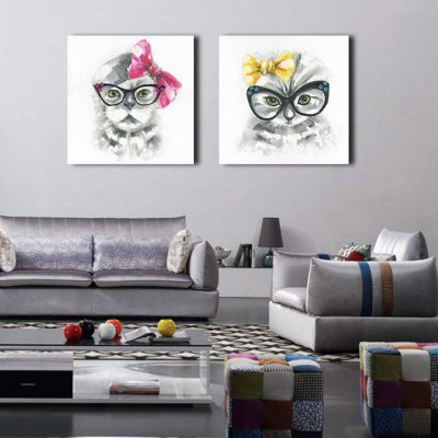 Canvas Oil Painting Animal Cat Hand Painted Home DecorOil Paintings<br>Canvas Oil Painting Animal Cat Hand Painted Home Decor<br><br>Brand: YHHP<br>Form: Two Panels<br>Package Quantity: 1 x Painting Set<br>Package size (L x W x H): 62.50 x 8.00 x 62.50 cm / 24.61 x 3.15 x 24.61 inches<br>Package weight: 2.4000 kg<br>Product size (L x W x H): 60.00 x 3.00 x 60.00 cm / 23.62 x 1.18 x 23.62 inches<br>Product weight: 1.5000 kg<br>Shape: Square<br>Theme: Animal