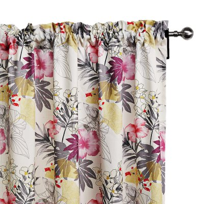 Ink-jet Printing Floral Window Curtains 52 x 63 inchWindow Treatments<br>Ink-jet Printing Floral Window Curtains 52 x 63 inch<br><br>Category: Curtain<br>For: All<br>Material: Polyester fibre<br>Occasion: Bedroom, Dining Room, Living Room<br>Package Contents: 2 x Window Curtain Panel, 2 x Tieback<br>Package size (L x W x H): 70.00 x 50.00 x 2.50 cm / 27.56 x 19.69 x 0.98 inches<br>Package weight: 1.9300 kg<br>Product weight: 1.7000 kg<br>Type: Eco-friendly, Fashion, Decoration
