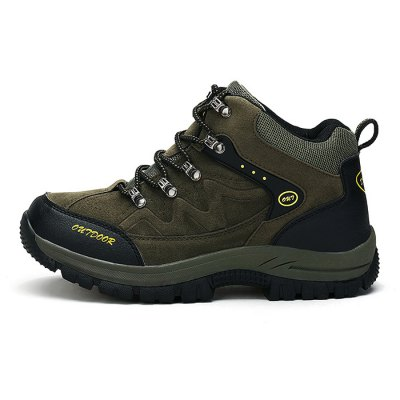 Plus Size Outdoor Hiking / Climbing Shoes for MenHiking Shoes<br>Plus Size Outdoor Hiking / Climbing Shoes for Men<br><br>Contents: 1 x Pair of Shoes<br>Materials: Rubber, Suede<br>Occasion: Casual, Rainy Day, Riding<br>Package Size ( L x W x H ): 33.00 x 22.00 x 11.00 cm / 12.99 x 8.66 x 4.33 inches<br>Package Weights: 1.02kg<br>Seasons: Autumn,Spring,Summer<br>Style: Fashion, Leisure, Comfortable<br>Type: Hiking Shoes