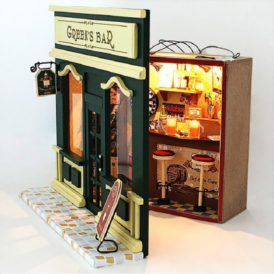 Wooden Bar DIY KitDoll House<br>Wooden Bar DIY Kit<br><br>Completeness: Semi-finished Product<br>Gender: Unisex<br>Materials: Electronic Components, Wood<br>Package Contents: 1 x Miniature Bar DIY Kit<br>Package size: 21.00 x 8.00 x 20.00 cm / 8.27 x 3.15 x 7.87 inches<br>Package weight: 0.6800 kg<br>Product size: 20.00 x 7.00 x 18.00 cm / 7.87 x 2.76 x 7.09 inches<br>Product weight: 0.4000 kg<br>Theme: Other