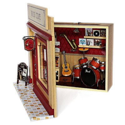 Wooden Rock Musical Instrument Shop DIY KitDoll House<br>Wooden Rock Musical Instrument Shop DIY Kit<br><br>Completeness: Semi-finished Product<br>Gender: Unisex<br>Materials: Electronic Components, Wood, Other<br>Package Contents: 1 x Miniature Shop DIY Kit<br>Package size: 21.00 x 21.00 x 9.00 cm / 8.27 x 8.27 x 3.54 inches<br>Package weight: 0.6300 kg<br>Product size: 20.00 x 8.00 x 20.00 cm / 7.87 x 3.15 x 7.87 inches<br>Product weight: 0.4000 kg<br>Theme: Other