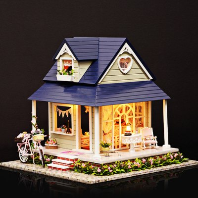 Creative DIY Wooden VillaDoll House<br>Creative DIY Wooden Villa<br><br>Completeness: Semi-finished Product<br>Gender: Unisex<br>Materials: Electronic Components, Wood<br>Package Contents: 1 x Wooden House DIY Kit<br>Package size: 27.00 x 25.00 x 8.00 cm / 10.63 x 9.84 x 3.15 inches<br>Package weight: 1.3300 kg<br>Product size: 26.00 x 24.00 x 22.30 cm / 10.24 x 9.45 x 8.78 inches<br>Product weight: 1.1000 kg<br>Theme: Other
