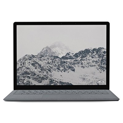 Microsoft Surface Laptop 8GB + 256GBLaptops<br>Microsoft Surface Laptop 8GB + 256GB<br><br>3.5mm Headphone Jack: Yes<br>AC adapter: 110-240V / 12V 2.58A<br>Battery / Run Time (up to): 14.5 hours video playing time<br>Battery Type: 45000mAh,  Li-ion polymer<br>Bluetooth: 4.0<br>Brand: Microsoft<br>Caching: 3MB<br>Camera type: Single camera<br>Charger: 1<br>Charging Time.: 4-5 hours<br>Core: 2.6GHz, Quad Core<br>CPU: Intel Core i5-7300U<br>CPU Brand: Intel<br>CPU Series: Core i5<br>Display Ratio: 3:2<br>English Manual : 1<br>Facial Recognition: Supported<br>Front camera: 720P<br>Graphics Card Frequency: 300MHz - 700MHz<br>Graphics Chipset: Intel HD Graphics 620<br>Graphics Type: Integrated Graphics<br>Hard Disk Interface Type: SATA<br>Hard Disk Memory: 256GB SSD<br>Languages: Windows OS is built-in Chinese and English, and other languages need to be downloaded by WiFi.<br>Largest RAM Capacity: 16GB<br>MIC: Supported<br>Mini DP Port: Yes<br>Model: Surface Laptop<br>MS Office format: Word, Excel, PPT<br>Notebook: 1<br>OS: Windows 10<br>Package size: 35.00 x 26.00 x 6.20 cm / 13.78 x 10.24 x 2.44 inches<br>Package weight: 2.8100 kg<br>Picture format: JPG, PNG, BMP, JPEG, GIF<br>Power Consumption: 7.5W<br>Process Technology: 14nm<br>Product size: 30.80 x 22.32 x 1.45 cm / 12.13 x 8.79 x 0.57 inches<br>Product weight: 1.2500 kg<br>RAM: 8GB<br>RAM Slot Quantity: One<br>RAM Type: DDR4<br>Screen resolution: 2256 x 1504<br>Screen size: 13.5 inch<br>Screen type: PixelSense, Capacitive (10-Points)<br>Skype: Supported<br>Speaker: Dolby Audio<br>Threading: 4<br>USB Host: Yes (USB 3.0)<br>WIFI: 802.11 a/b/g/n wireless internet<br>WLAN Card: Yes<br>Youtube: Supported