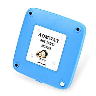AOMWAY ANT005 5.8GHz 14dBi RHCP Patch AntennaAntenna<br>AOMWAY ANT005 5.8GHz 14dBi RHCP Patch Antenna<br><br>Brand: Aomway<br>FPV Equipments: FPV Antenna<br>Functions: Video<br>Package Contents: 1 x FPV Antenna<br>Package size (L x W x H): 12.00 x 10.00 x 1.50 cm / 4.72 x 3.94 x 0.59 inches<br>Package weight: 0.0800 kg<br>Product weight: 0.0460 kg