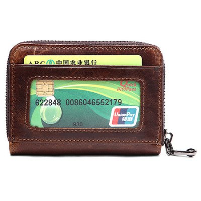 Retro Genuine Leather Card Holder for MenMens Bags<br>Retro Genuine Leather Card Holder for Men<br><br>Closure Type: Zip<br>Material: Genuine Leather<br>Package Size(L x W x H): 12.00 x 3.00 x 8.50 cm / 4.72 x 1.18 x 3.35 inches<br>Package weight: 0.1800 kg<br>Packing List: 1 x Wallet<br>Product Size(L x W x H): 11.00 x 2.50 x 8.00 cm / 4.33 x 0.98 x 3.15 inches<br>Product weight: 0.0600 kg<br>Style: Business<br>Type: Wallet