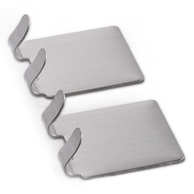 8pcs YS - 3 Stainless Steel Double Sticky Hook
