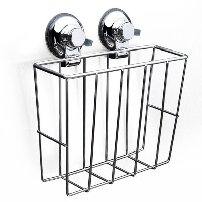 CW814 Stainless Steel Suction Cup Book Storage Basket 218072001