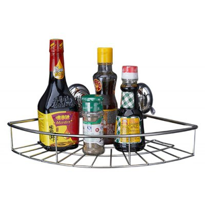 CW816 Stainless Steel Suction Cup Triangle Storage Basket 218098901