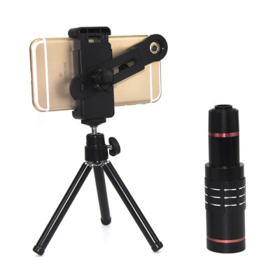 Topaul MS18X008 18X Zoom HD Telescope Phone Lens TripodiPhone Lenses<br>Topaul MS18X008 18X Zoom HD Telescope Phone Lens Tripod<br><br>Brand: topaul<br>Lens type: Long Focal(Telephoto Lens)<br>Magnification ?Telephoto Lens ): 18X<br>Material: Metal, Optical glass<br>Package Contents: 1 x Telescope Lens, 1 x Tripod, 1 x Clip Holder, 1 x Pouch, 2 x Lens Case<br>Package size (L x W x H): 17.00 x 14.00 x 5.00 cm / 6.69 x 5.51 x 1.97 inches<br>Package weight: 0.3050 kg<br>Product size (L x W x H): 13.40 x 3.70 x 3.70 cm / 5.28 x 1.46 x 1.46 inches<br>Product weight: 0.2270 kg