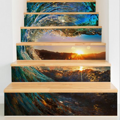 Sunset Glow Style Stair Sticker