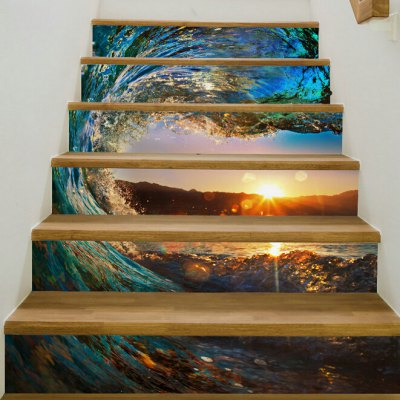 Sunset Glow Style Stair StickerWall Stickers<br>Sunset Glow Style Stair Sticker<br><br>Hang In/Stick On: Stair<br>Material: Vinyl(PVC)<br>Package Contents: 6 x Stair Stickers<br>Package size (L x W x H): 20.00 x 3.40 x 3.40 cm / 7.87 x 1.34 x 1.34 inches<br>Package weight: 0.3800 kg<br>Product weight: 0.3600 kg<br>Subjects: Landscape